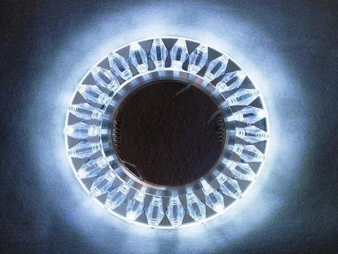 Встраиваемый светильник SP-1684-3W-SR/RGB Хром/Многоцветный+Диодная подсветка
