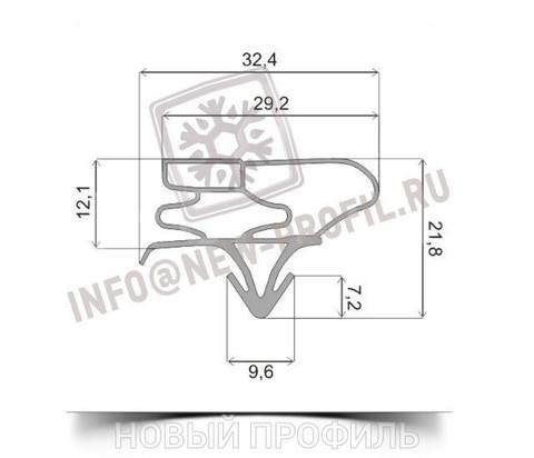 Уплотнитель для холодильника Samsung RSA1NHWP1/BWT. Размер 1610*370 мм (003 АНАЛОГ)