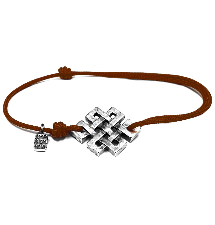 Endless Knot Bracelet, sterling silver
