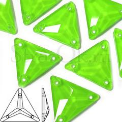Купить оптом неоновые стразы Neon Green Triangle зеленые треугольники