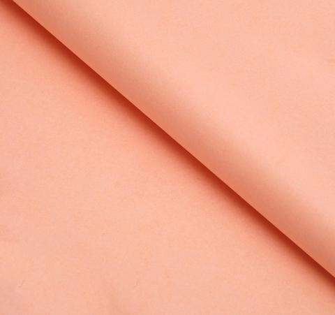 Бумага упаковочная тишью, персиковый, 50*66 см