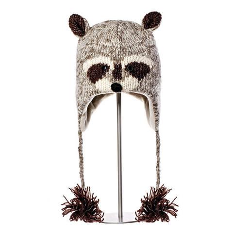 Картинка шапка с ушами Knitwits Robbie the Racoon детская  - 1