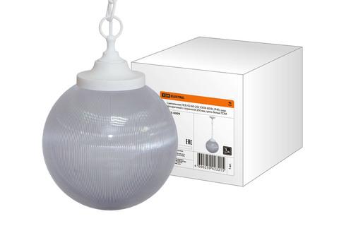 Светильник НСБ 02-60-252 УХЛ4 60 Вт, IP40, шар прозрачный с огранкой 250 мм, цепь белая TDM