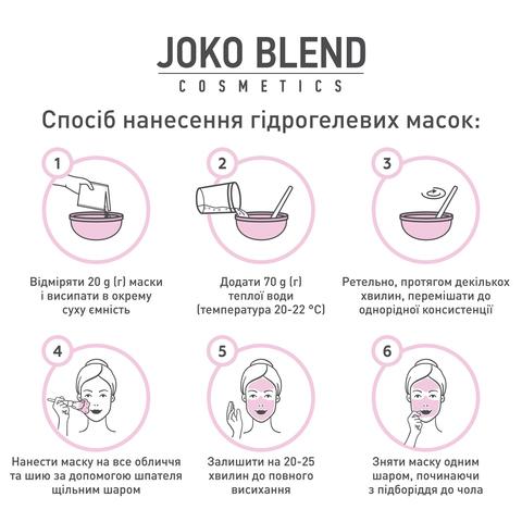 Маска гідрогелева Purifying Charcoal Joko Blend 200 г (6)