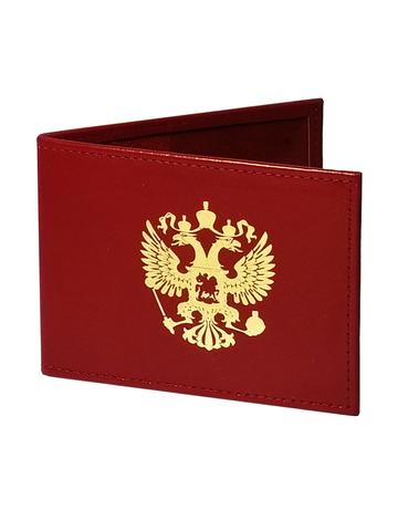 Обложка для удостоверения   Золотой Герб   Красный