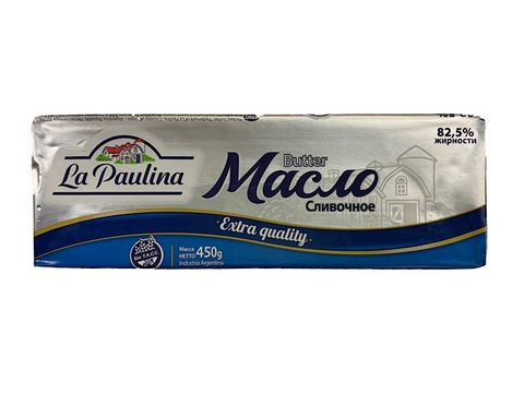 Масло Сливочное La Paulina 82,5%, 450 г