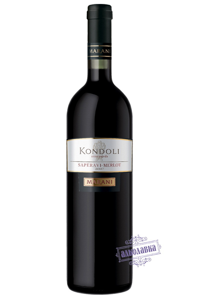 Вино Кондоли Саперави Мерло красное сухое 0,75л 13,5%
