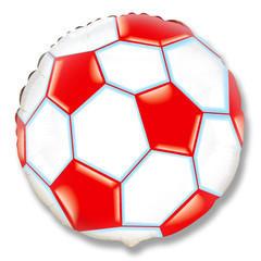 F Круг Футбольный мяч (красный), 18''/46 см, 1 шт.