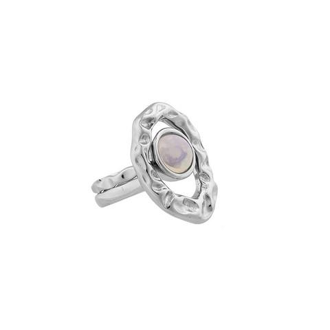 Кольцо двойное Opaline 18.5 мм K7158.25/18.5 BW/S