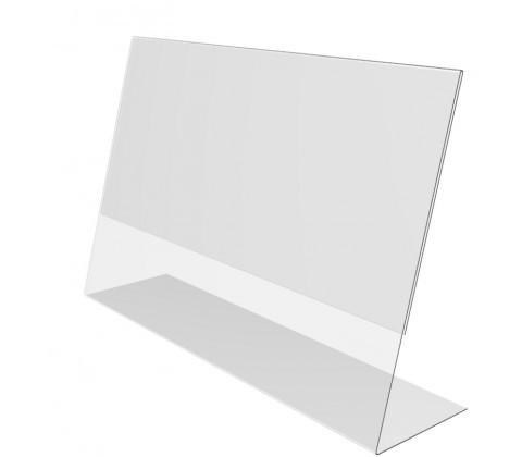 Ценникодержатель PVC-PRICER 60х40,  из ПВХ L-образный, горизонтальный