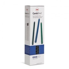 Пружины для переплета пластиковые GBC 10 мм черные (100 штук в упаковке)