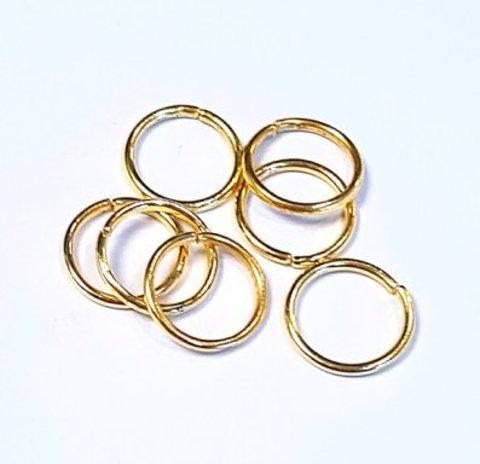 Кольцо одинарное 10 мм золото цена за 10 штук