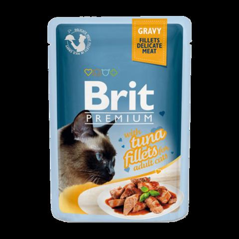 Brit Premium Cat Консервы для кошек филе тунца в соусе (пауч)