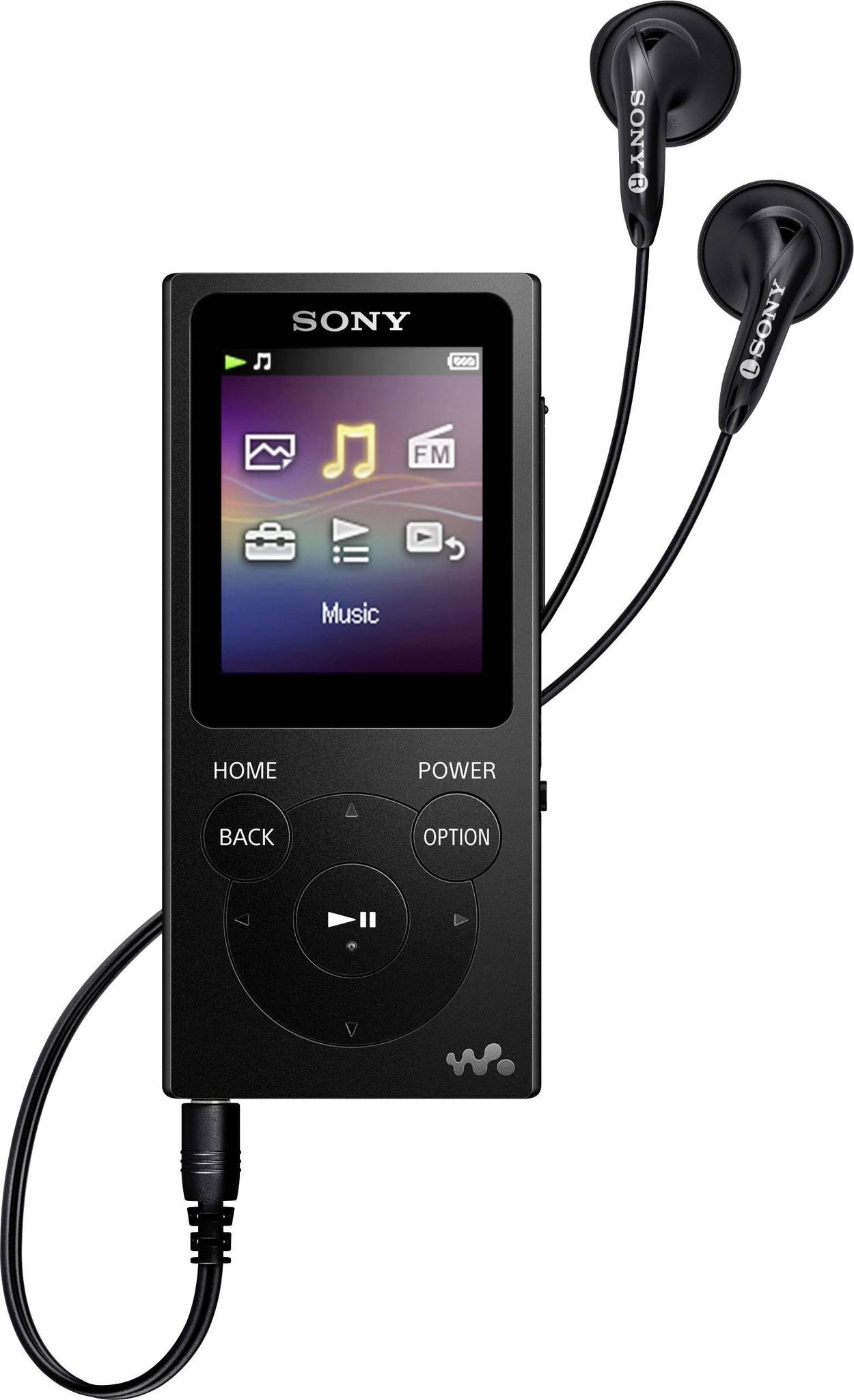 NW-E394B MP3 плеер Sony Walkman, черный