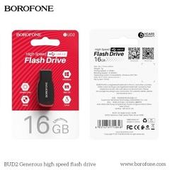 Yaddaş kartı \ Карта памяти \ Flash Card Flash Drive Borofone UD2 16GB Цвет Чёрный