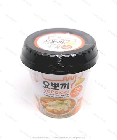 Корейские рисовые клецки с сырным соусом (Топокки) в стакане, 140 гр.