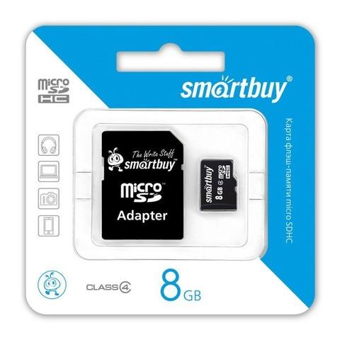 SmartBuy / Карта памяти 8GB | класс 4, SD-адаптер