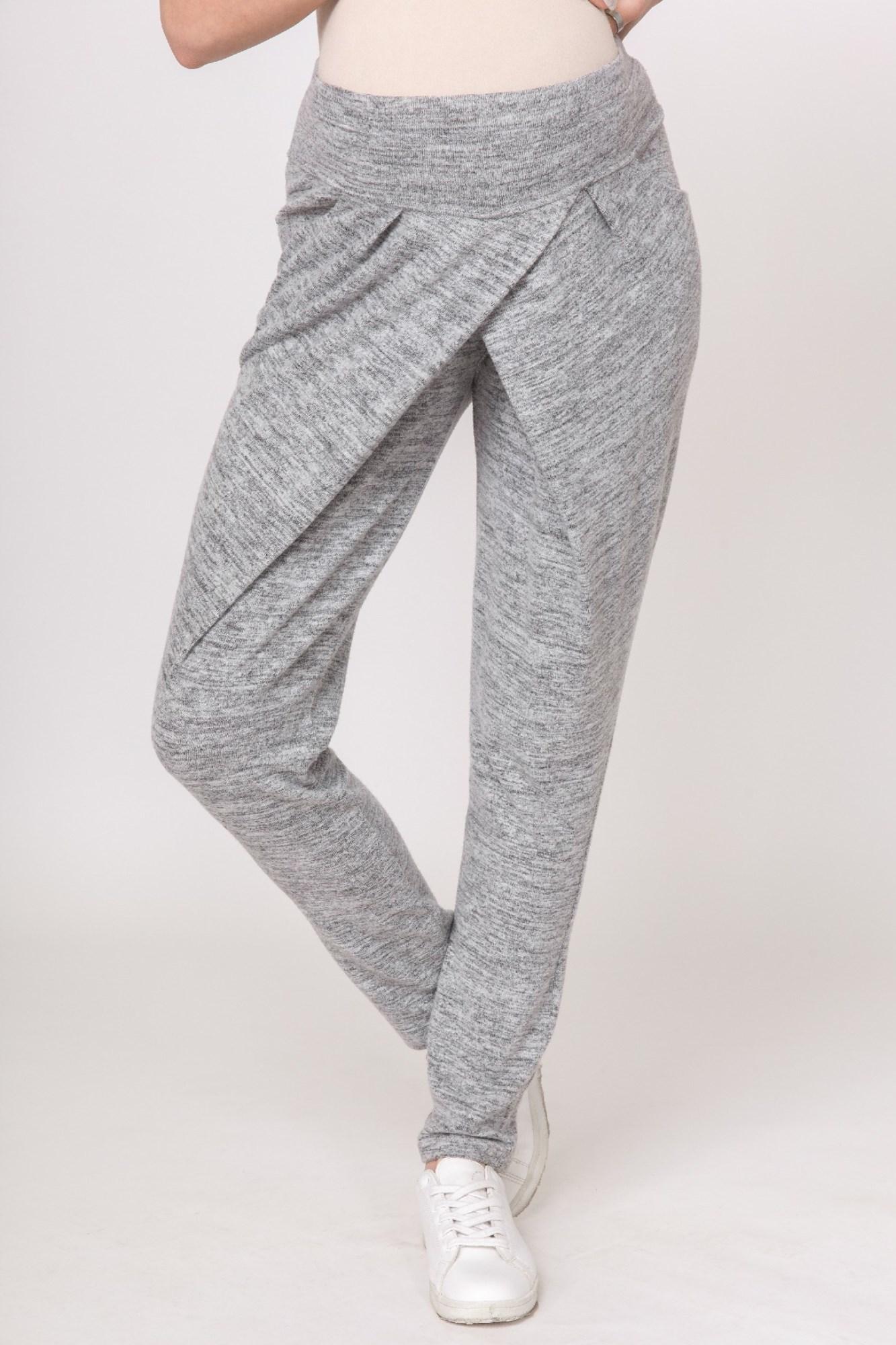 Спортивные брюки для беременных 08261 серый
