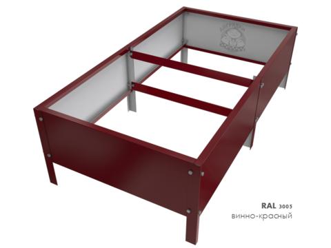 Оцинкованная грядка с полимерным покрытием RAL 3005 винно-красный