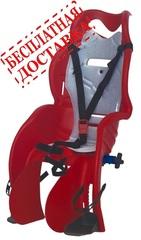 Велокресло для детей HTP SANBAS T (красное), крепление к подседельной трубе