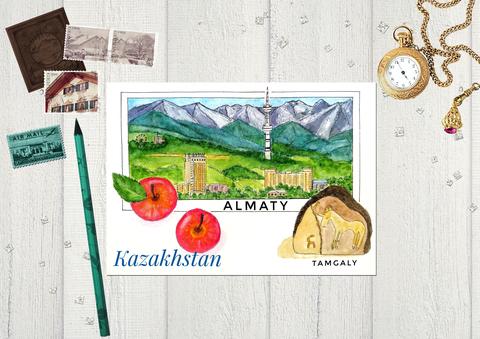 Города Казахстана - г. Алматы, вид на город