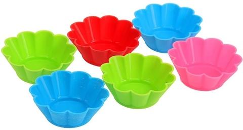 Набор силиконовых форм для выпечки - 12 штук