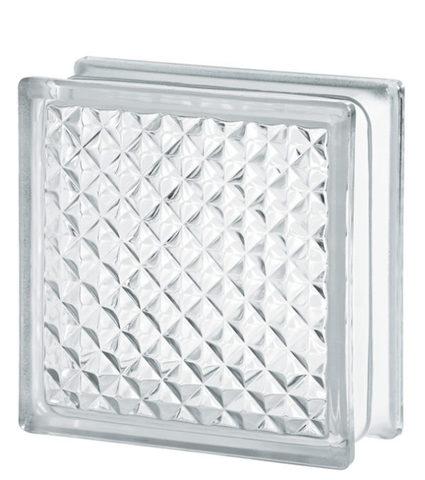 Купить стеклоблок бесцветный инка  Vitrablok 19х19х8 не дорого в Краснодаре
