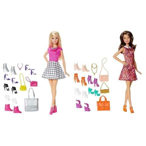 Барби Блондинка и Брюнетка Модная обувь