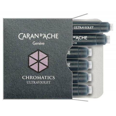 Картридж Carandache Chromatics (8021.099) ultraviolet для перьевых ручек 6шт в уп