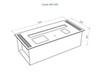 размеры Автоматический биокамин Good Fire 600 RC INOX