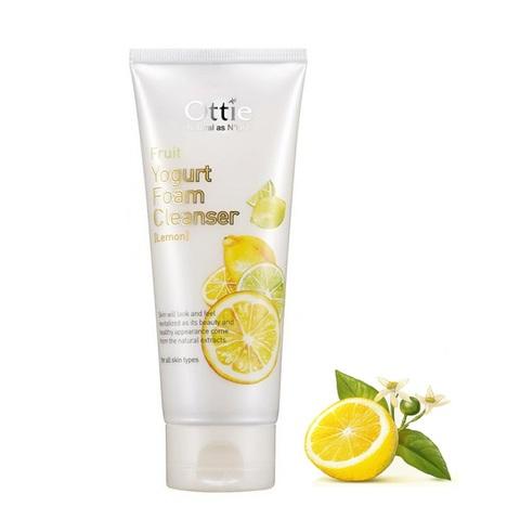 Ottie Fruits Yogurt Foam Cleanser Lemon йогуртовая пенка для очищения. Лимон.