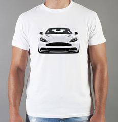 Футболка с принтом Астон Мартин (Aston Martin) белая 0012