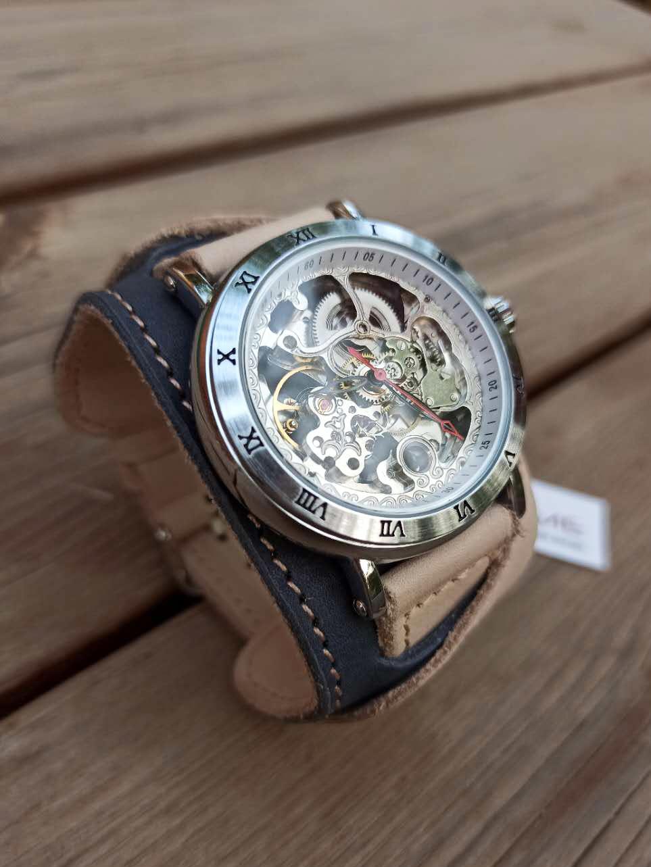 Часы скелетоны мужские механические Martini YOURTIME