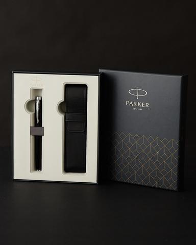 Подарочная коробка Parker с чехлом для одной ручки, цвет черный