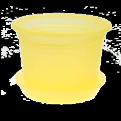 """Кашпо """"Флора-Орхидея 13"""" желтый 0,5 л, с поддоном"""