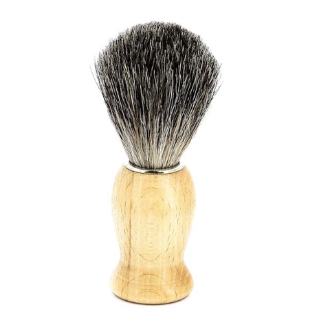Помазок для бритья Mondial, дерево, ворс барсука, рукоять - цвет - светлое дерево
