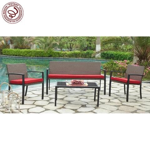 Комплект Lotus с 3-х местным диваном подушки - красного цвета