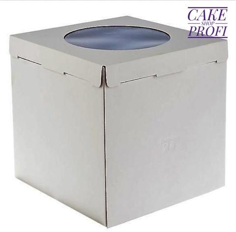 Коробка для торта с окном 30×30×30см. ( 50шт)