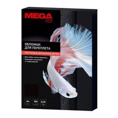 Обложки для переплета пластиковые Promega office A4 280 мкм черные глянцевые (100 штук в упаковке)
