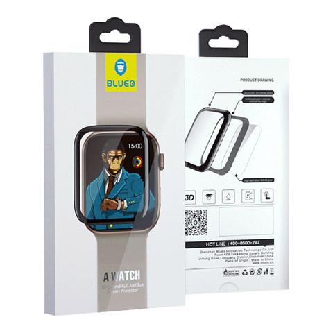 BLUEO / стекло 3D Full AB glue (премиум) для Apple Watch Series 4 44mm | 0.33 mm черное