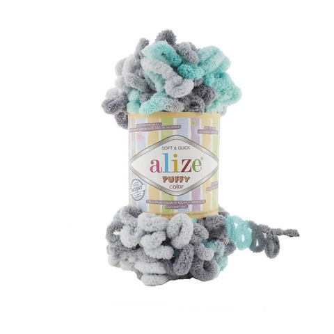 Пряжа Alize Puffy Color цвет 6076