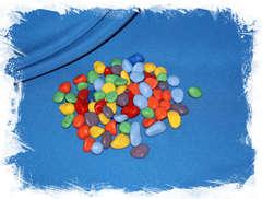 Камни цветные декоративные