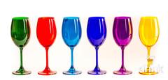 Набор бокалов для вина 250 SYLVIA/KLARA цветные (6 шт), фото 3