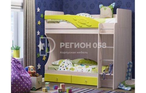 Двухъярусная кровать Бемби МДФ (фасад 3D)