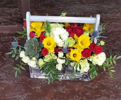 Ящик с цветами Лондон