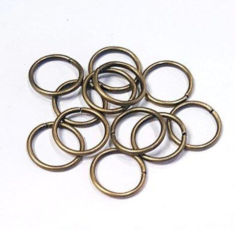 Кольцо одинарное 10 мм цвет бронза цена за 10 шт