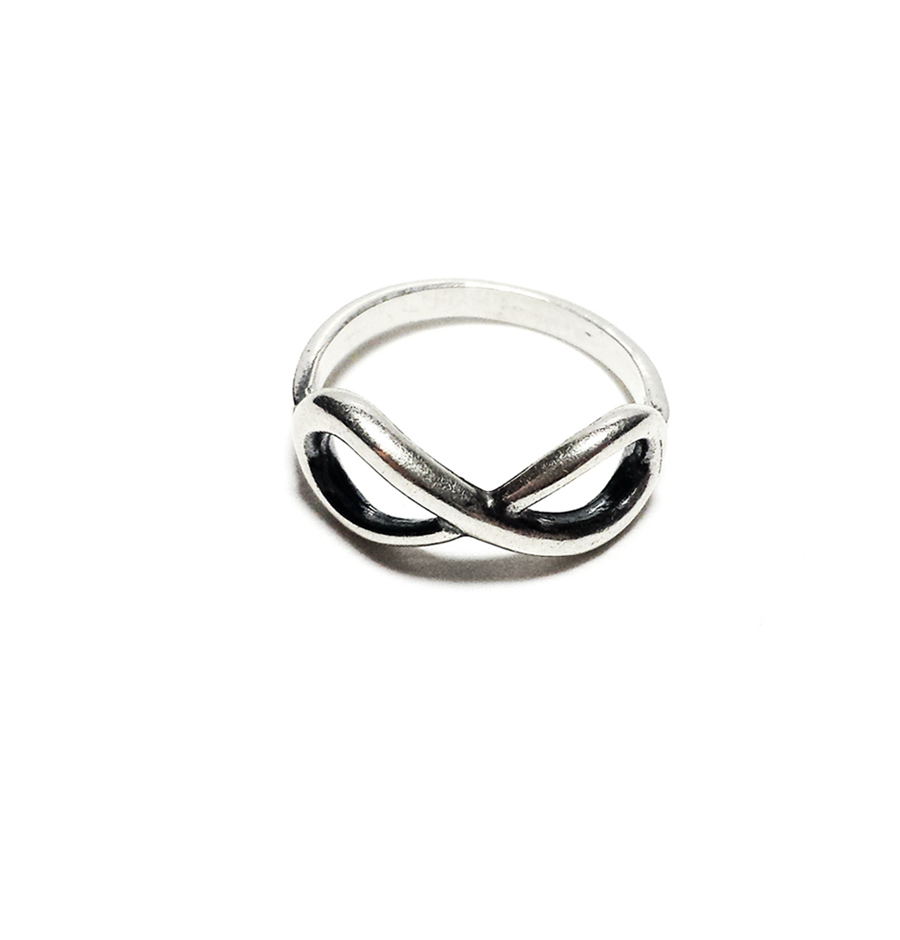Infinity Ring, Sterling Silver