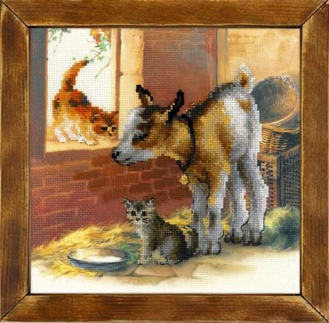 Набор для вышивания крестом «Козленок и котята» (0053 РТ)