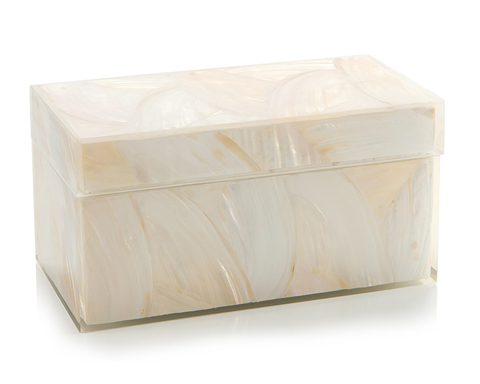 Gardenia White Mother-of-Pearl Box