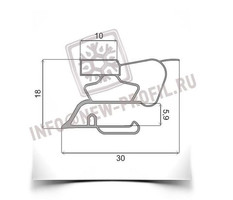 Уплотнитель для холодильника Саратов 451 КШ-160 размер 1050*450 мм (015/013)